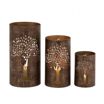 Tree Hurricane Candle Holder