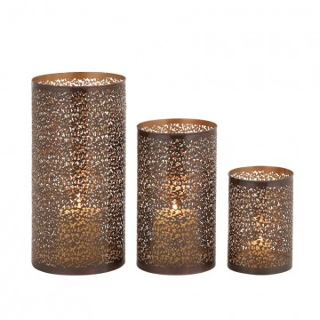 Bronze Hurricane Candle Holder