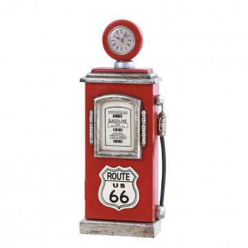 Wood Route 66 Gas Pump Clock