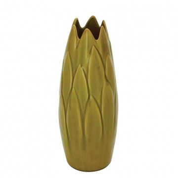 Ceramic Crackled Vase (Green)