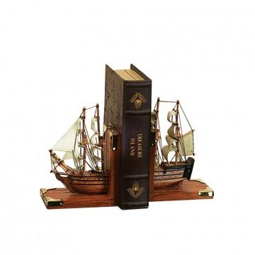 Merchant Ship Bookends