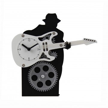 Guitar Table Stand Clock - White
